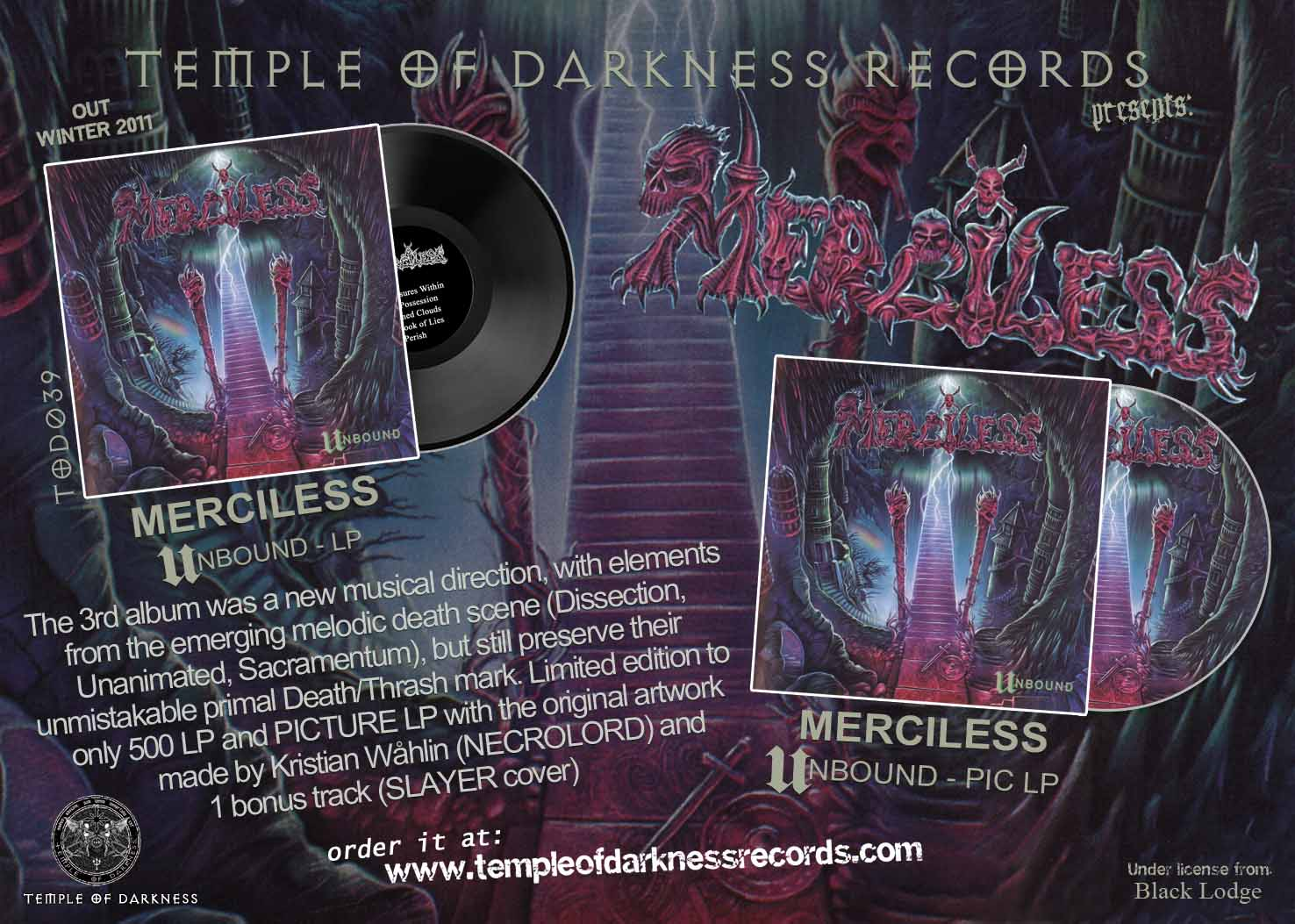 Temple Of Darkness Records Vinyl Record Label Since 2004